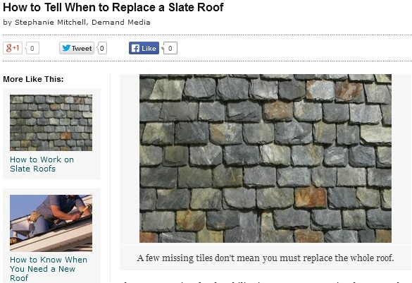 Replace a Slate Roof